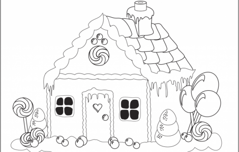 Gingerbread House Coloring Page | Arts and Craft ideas | Pinterest