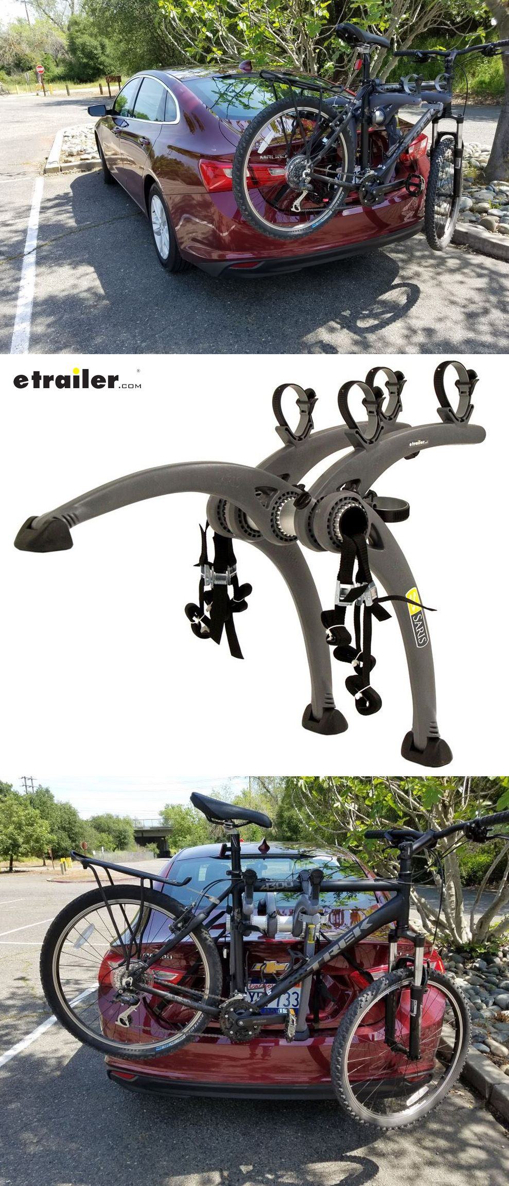Trunk Mounted Bike Rack Will Hold Two Of Your Bikes So