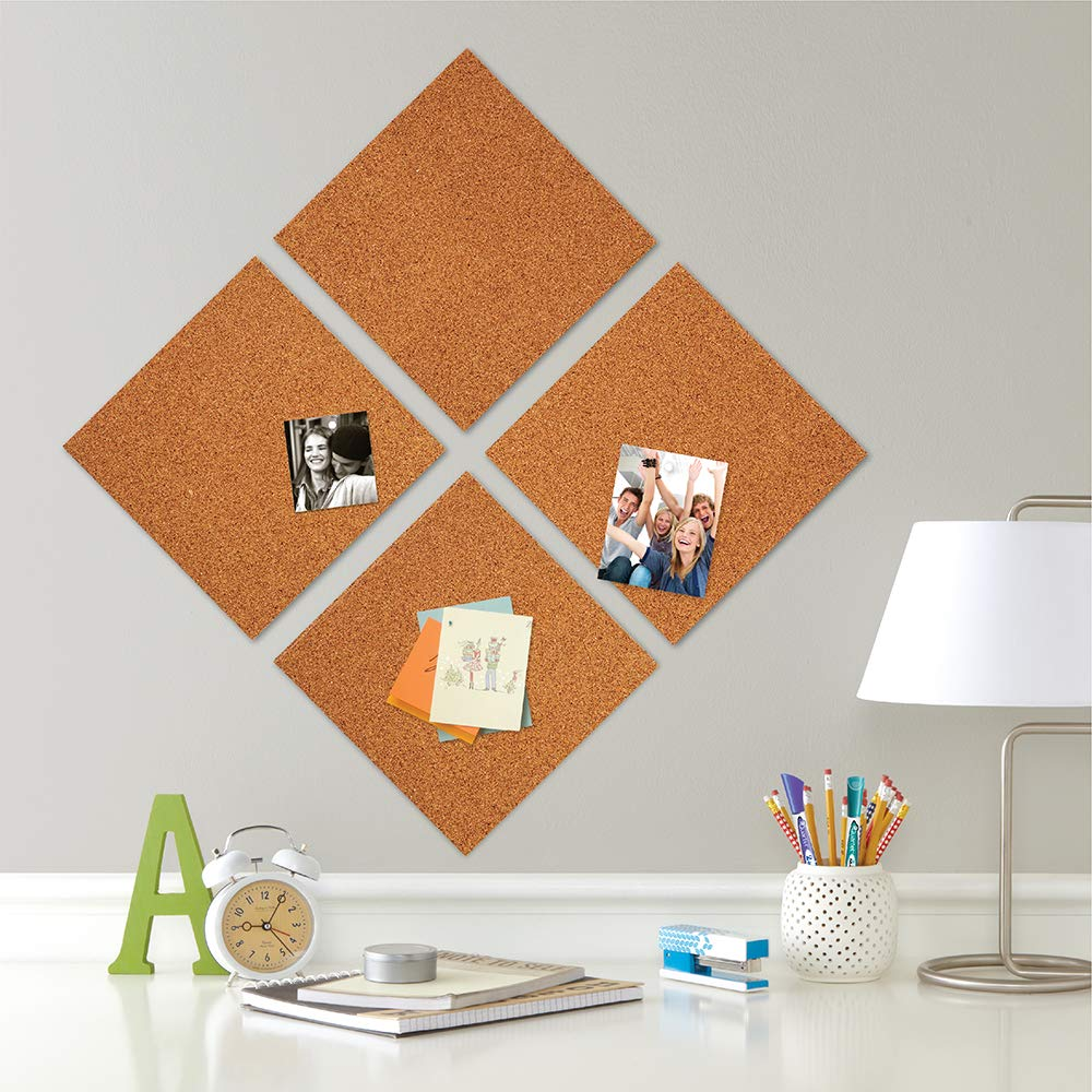 Amazon Com Quartet Cork Tiles Cork Board 12 X 12 Corkboard Wall Bulletin Boards Natural 8 Pack 108 Bulletin Boa Cork Tiles Cork Board Cork Panels