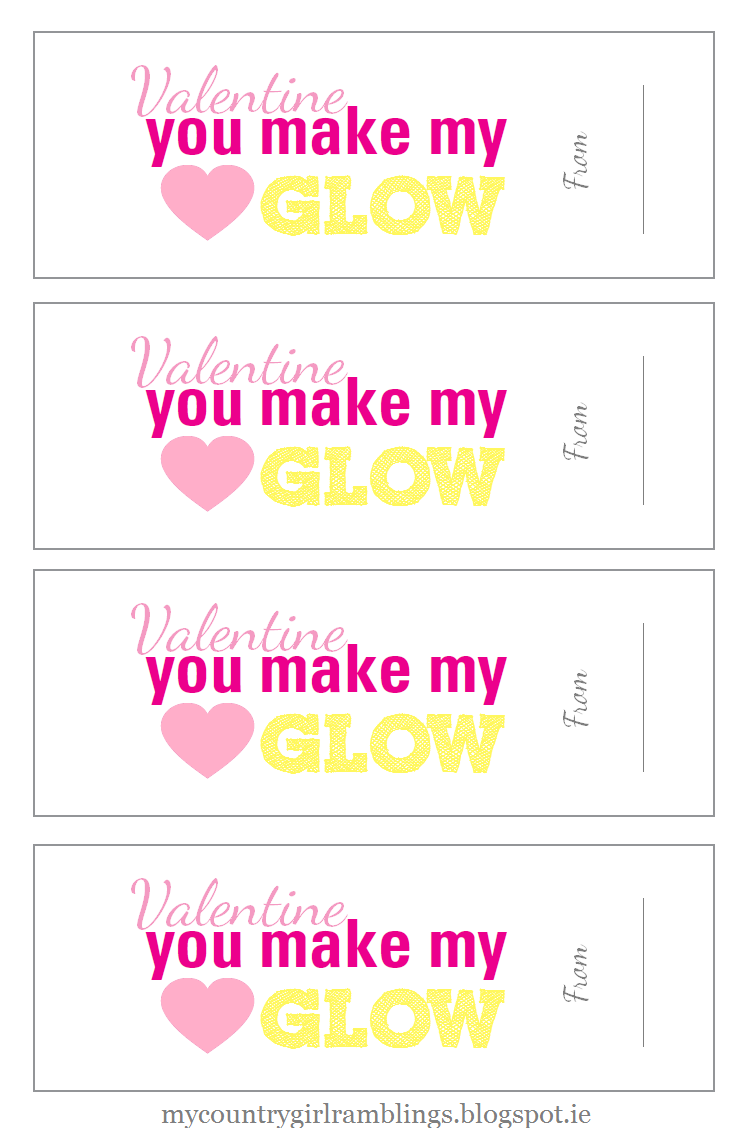 photograph relating to You Make My Heart Glow Printable identified as On your own create my Centre Shine : Free of charge Valentines Printable Produces
