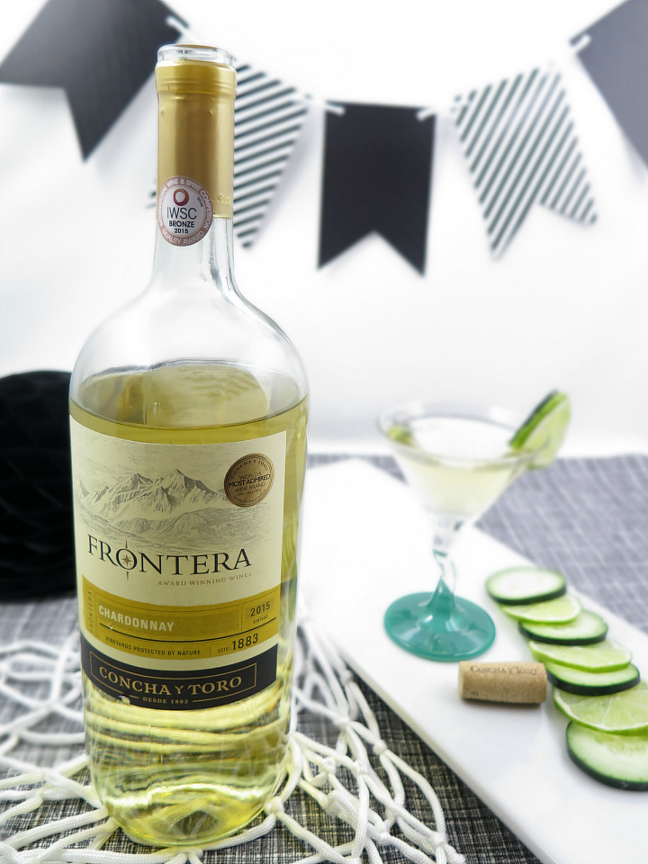 Delicious Chardonnay cocktail that's great for any occasion! Perfect for a basketball party with our bingo printable game cards!