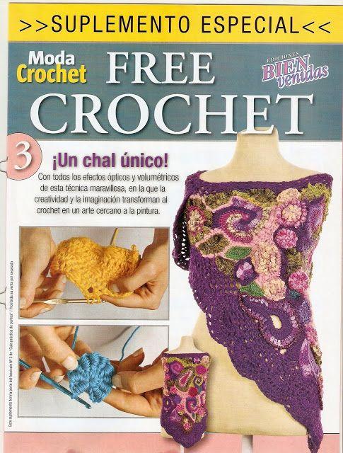 Como hacer un chal en crochet | Freeform Crochet | Pinterest | Chal ...