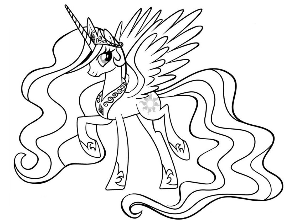 Princess Celestia Coloring Pages To Print From The Thousand Pictures On The Net With Regard My Little Pony Coloring Princess Drawings Princess Coloring Pages