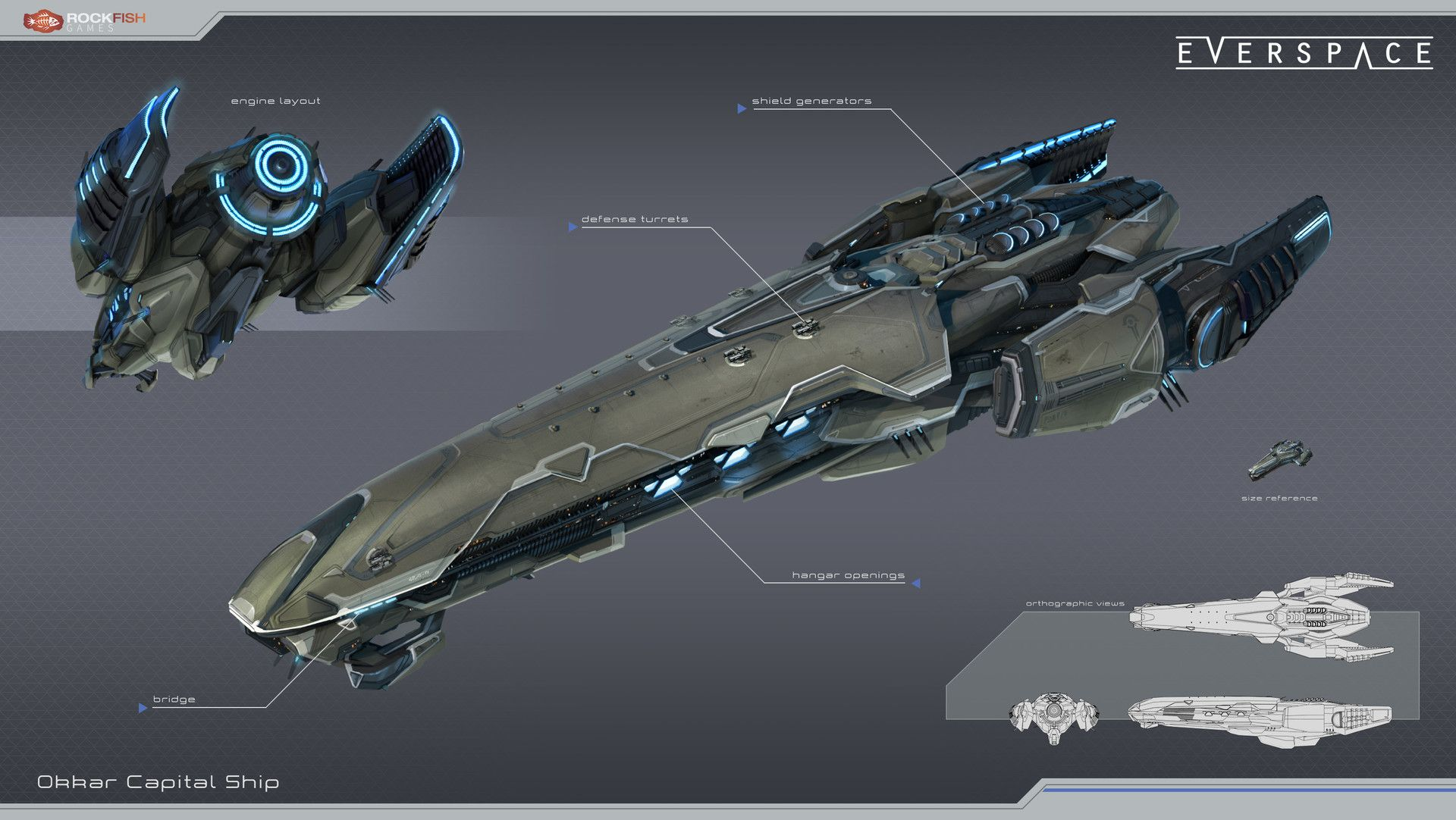 ArtStation - Okkar Capital Ship, Tobias Frank | space ship ...