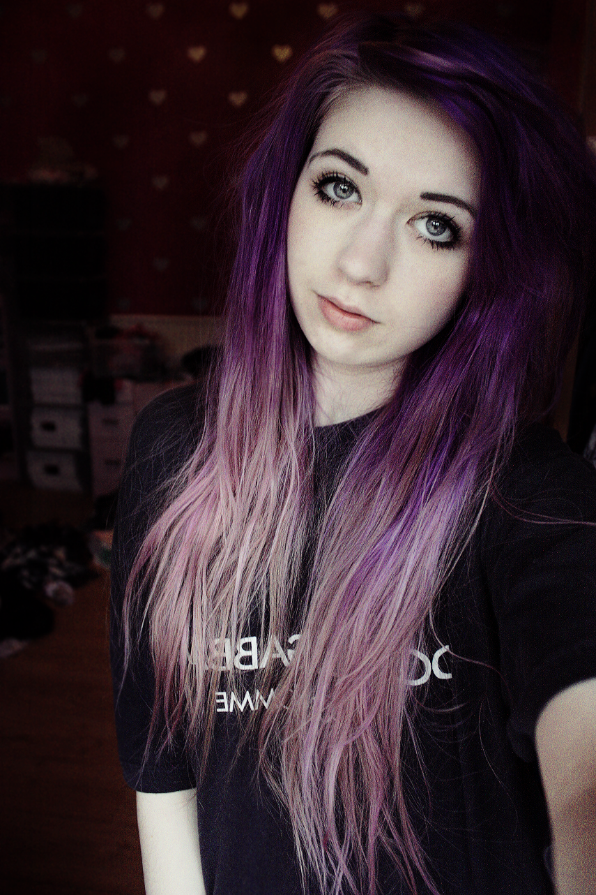 Love her faded out her purple hair x hair u makeup pinterest