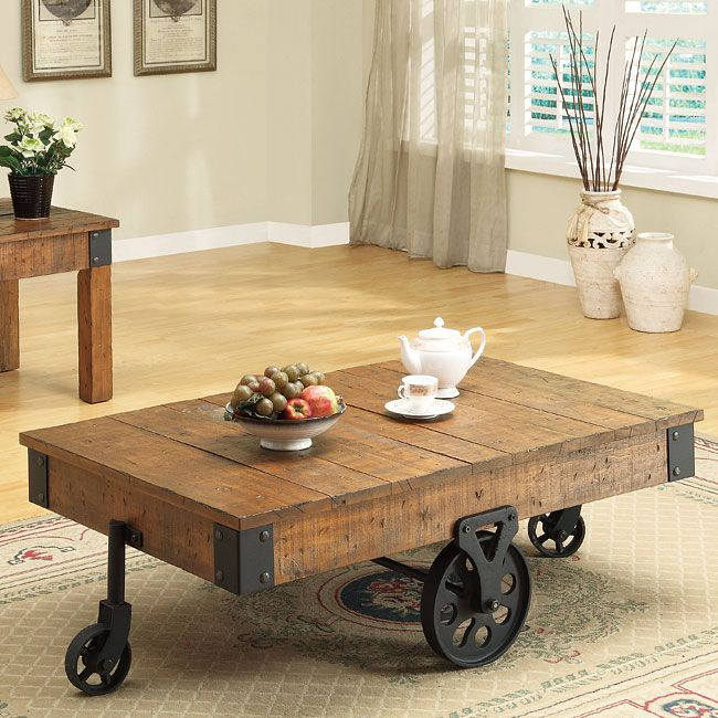 Warm Your Home With This Charming Country Cottage Style Coffee Table.  Crafted To Look