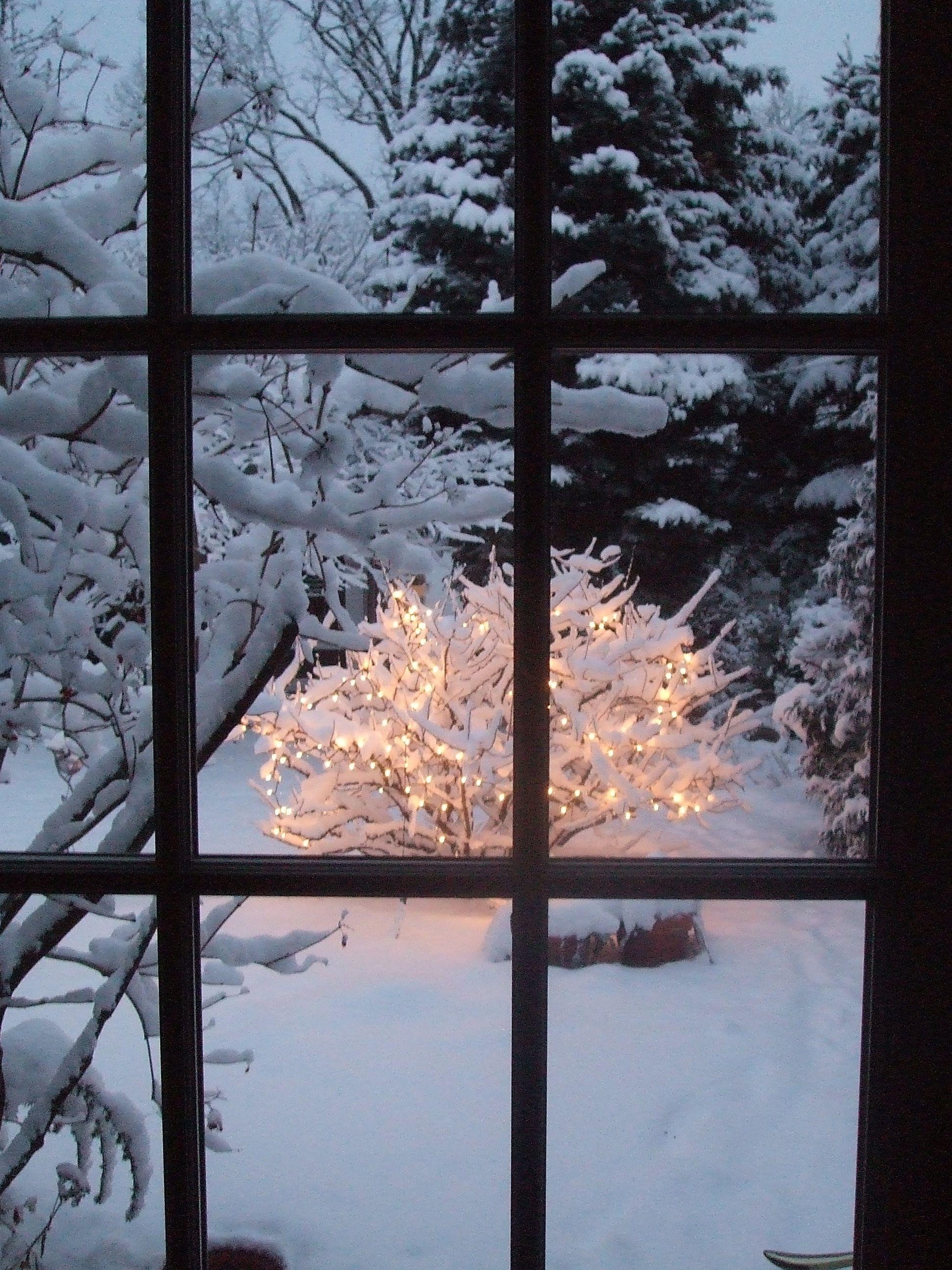 Картинки для окон зима
