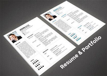 Free Minimal Resume With Portfolio  Love Design