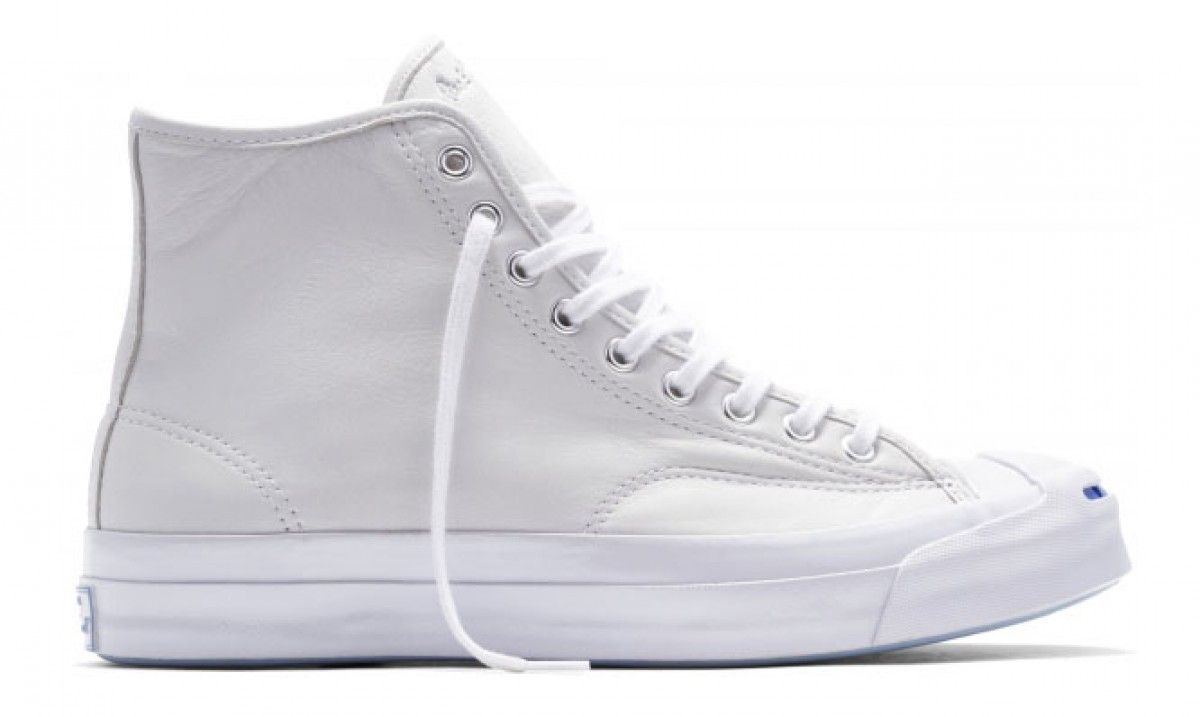 937a9f24f2e7 Converse Jack Purcell Hi Top Signature Leather White