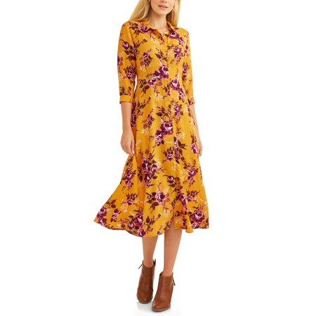 b2294b558b7 Women s Button Up Maxi Dress