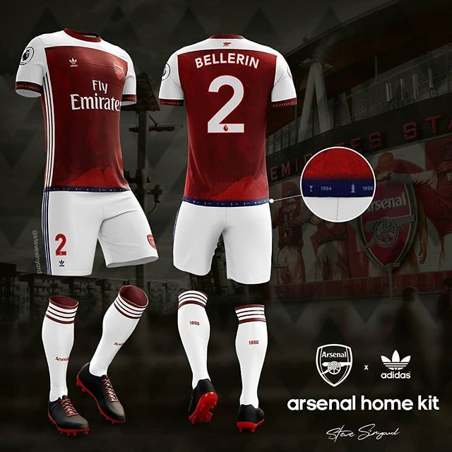 dda91685b43 Arsenal fan makes Adidas kit concept is it good? | Real Football ...