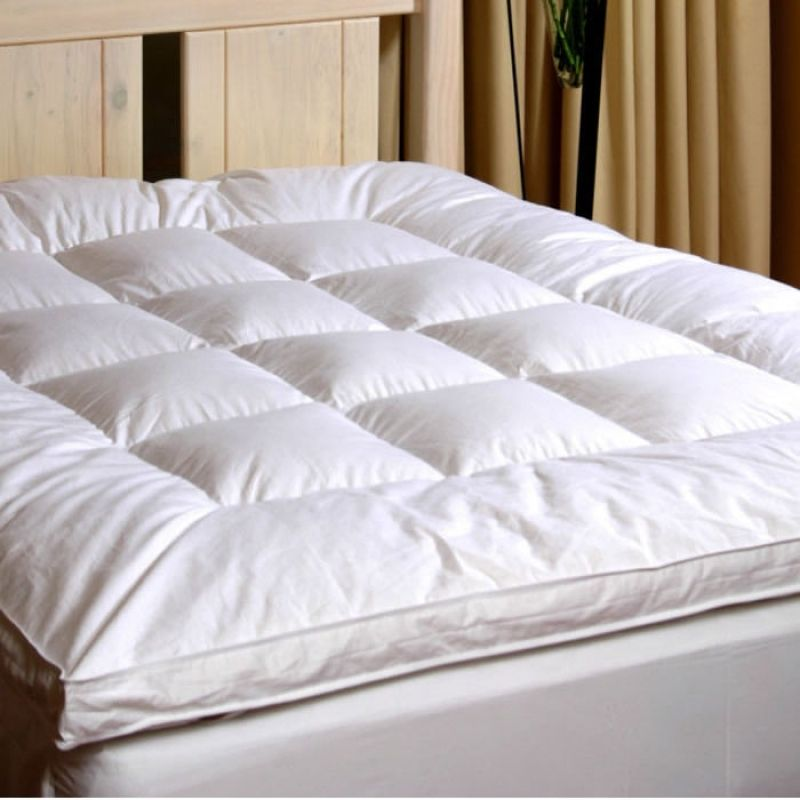 luxury goose down combination mattress toppers are filled with a sumptuous pure goose down for superior