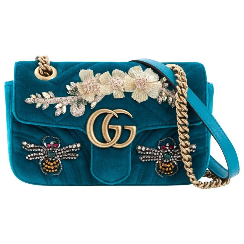 f07efc1d Buy your marmont velvet handbag GUCCI on Vestiaire Collective, the ...