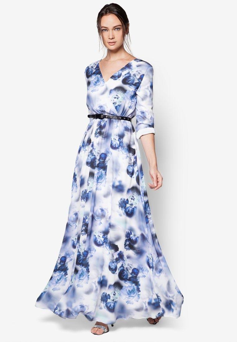 Buy Zalia Smudge Paint Floral Wrap Dress Online  e22a68ff8