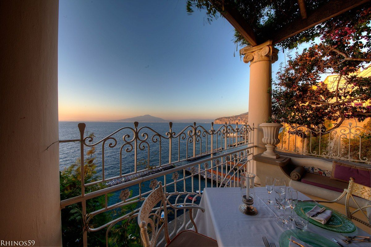 Sorrento bay seen from our superromantic restaurant