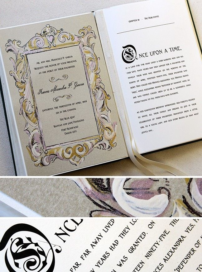Fairy Tale Story Book Wedding Invitation