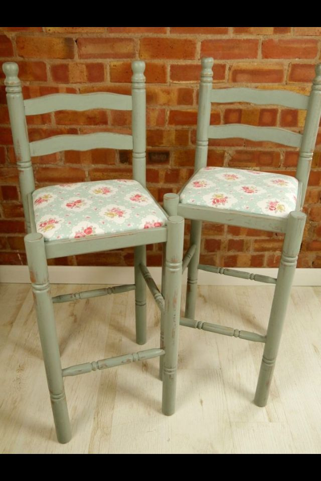 Shabby Chic Bar Stools Country Style Kitchen Apartment