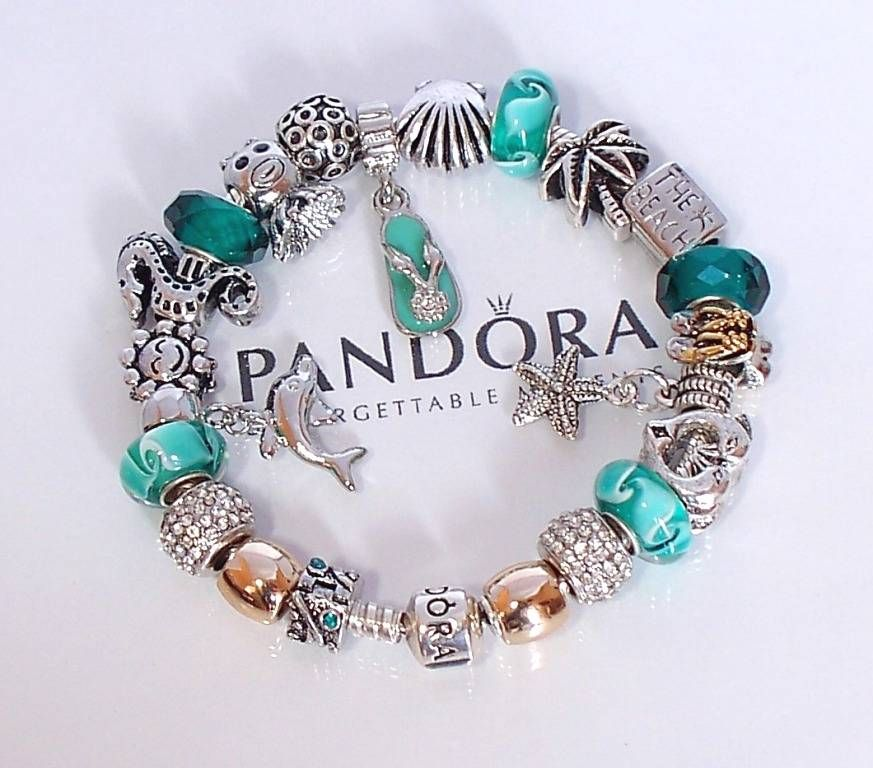 Shop Pandora Jewelry Online: Authentic Pandora 925 Silver Charm Bracelet Barrel Clasp