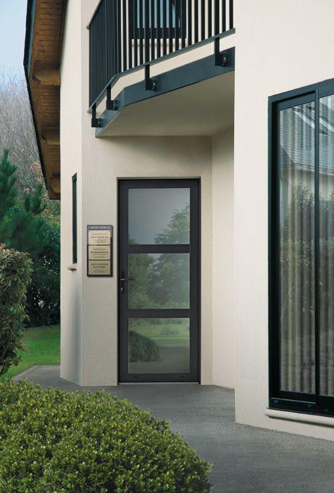 Porte du0027entrée aluminium grand vitrage Zilten modèle Neptune