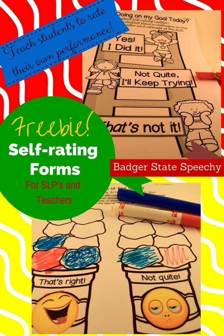 Freebie Self Assessment Forms For PreK To Elementary Free Self