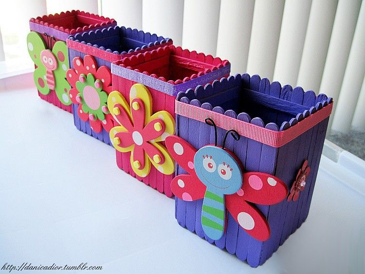 Beautiful Pencil Stand Made From Ice Cream Sticks Need To Make