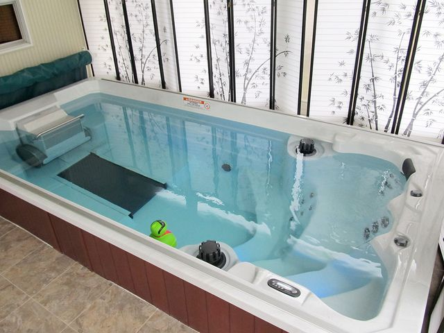 15 Swim Spa With Underwater Treadmill By Endless Pools Via Flickr Swim Spa Luxury Swimming Pools Hot Tub Swim Spa