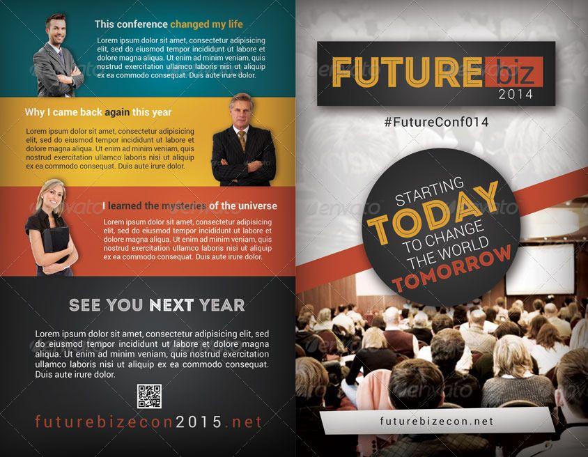 Future Conference Bifold Brochure #Ad #Conference, #Ad, #Future, #Brochure, #Bifold
