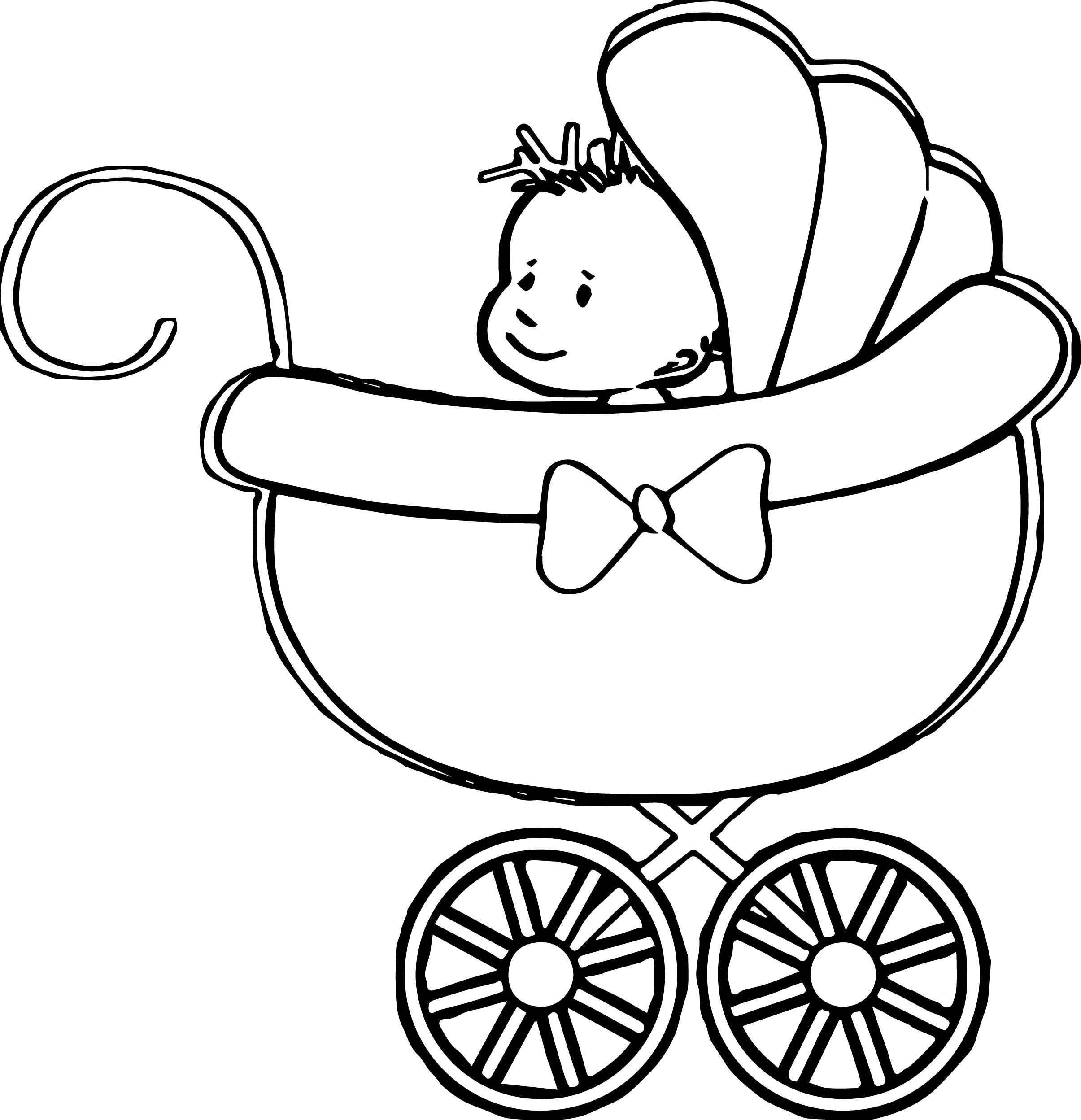 The Stroller Baby Boy Coloring Page