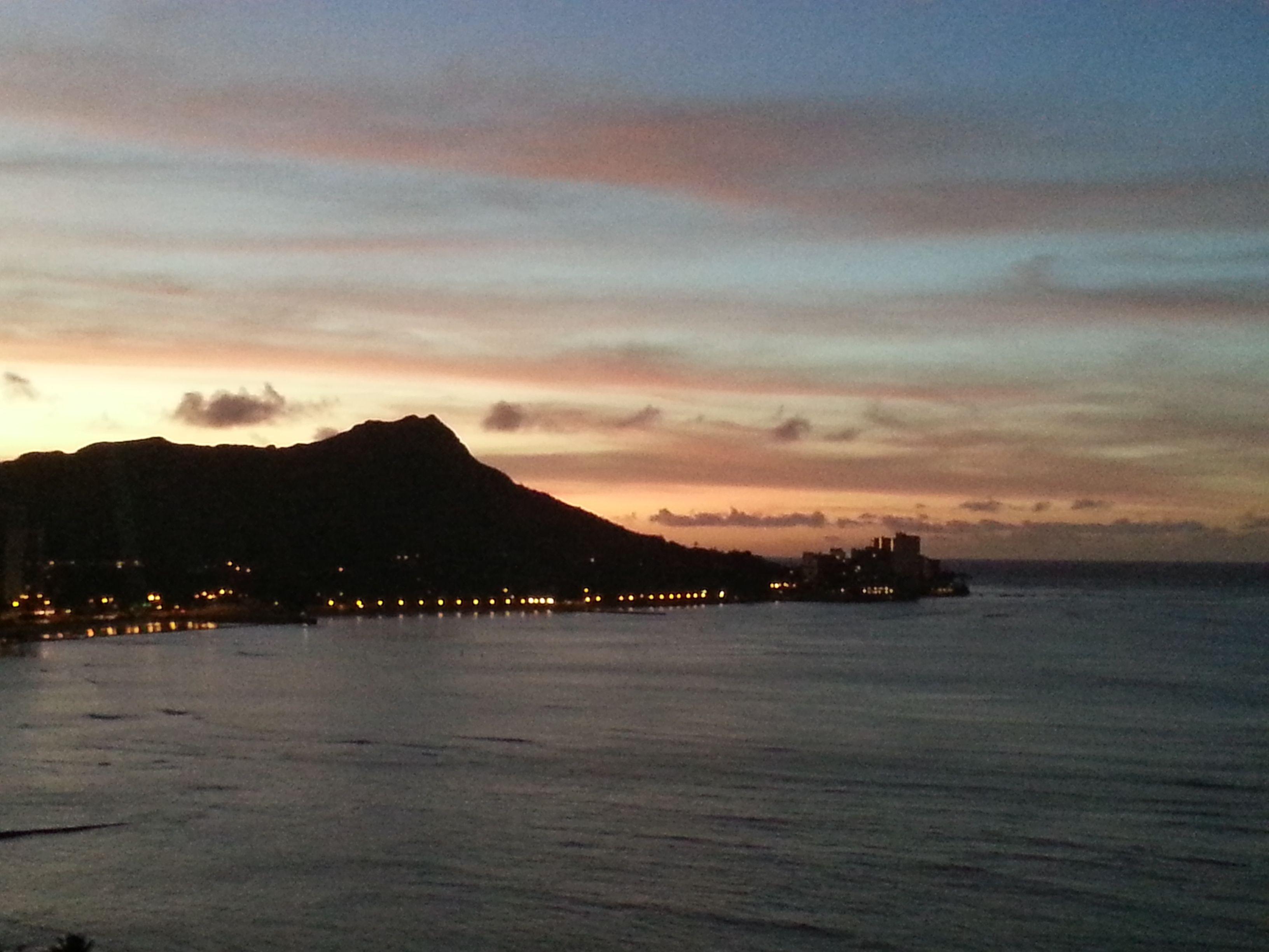 Sunrise over diamond head sunrise hawaiian islands hawaii