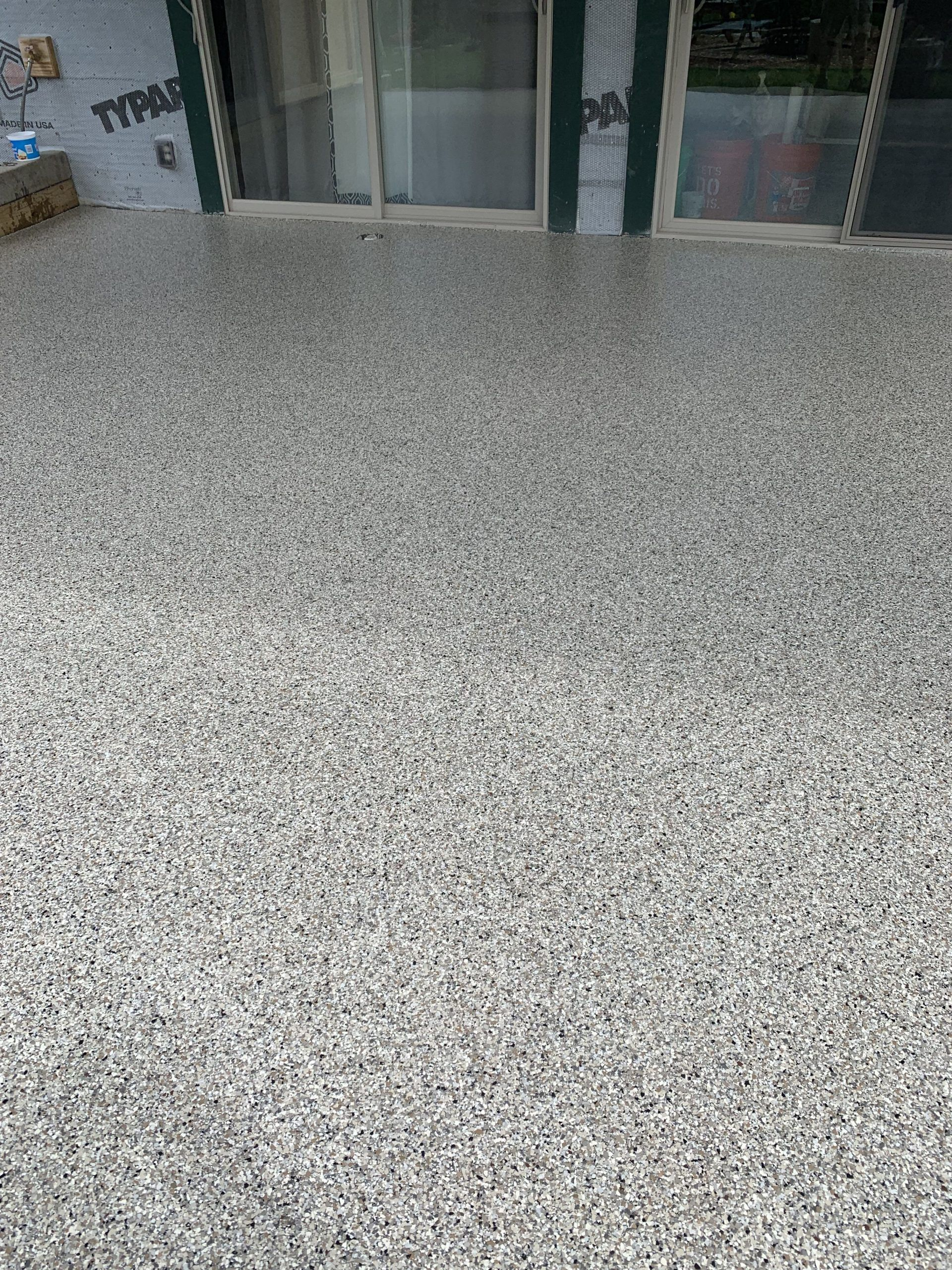 Full Flake Epoxy Porch Flooring In Ely Mn Www Innovativegar Ely Epoxy Flake Flooring Full Porch Wwwinnov In 2020 Porch Flooring Epoxy Floor Flooring Projects