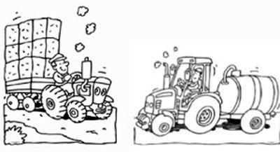 kleurplaat tractor kleurplaten tractor