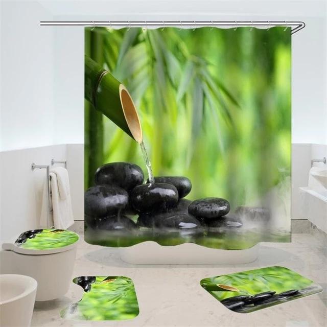 Dafield 4 Pcs African American Women Shower Curtain Bath Rug Sets Toil Rockin Docks Deluxephotos Spa Shower