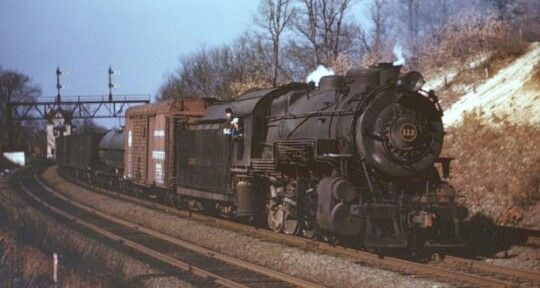 LIRR (H10 class) 2-8-0 #113 and a 80P79 tender pulling