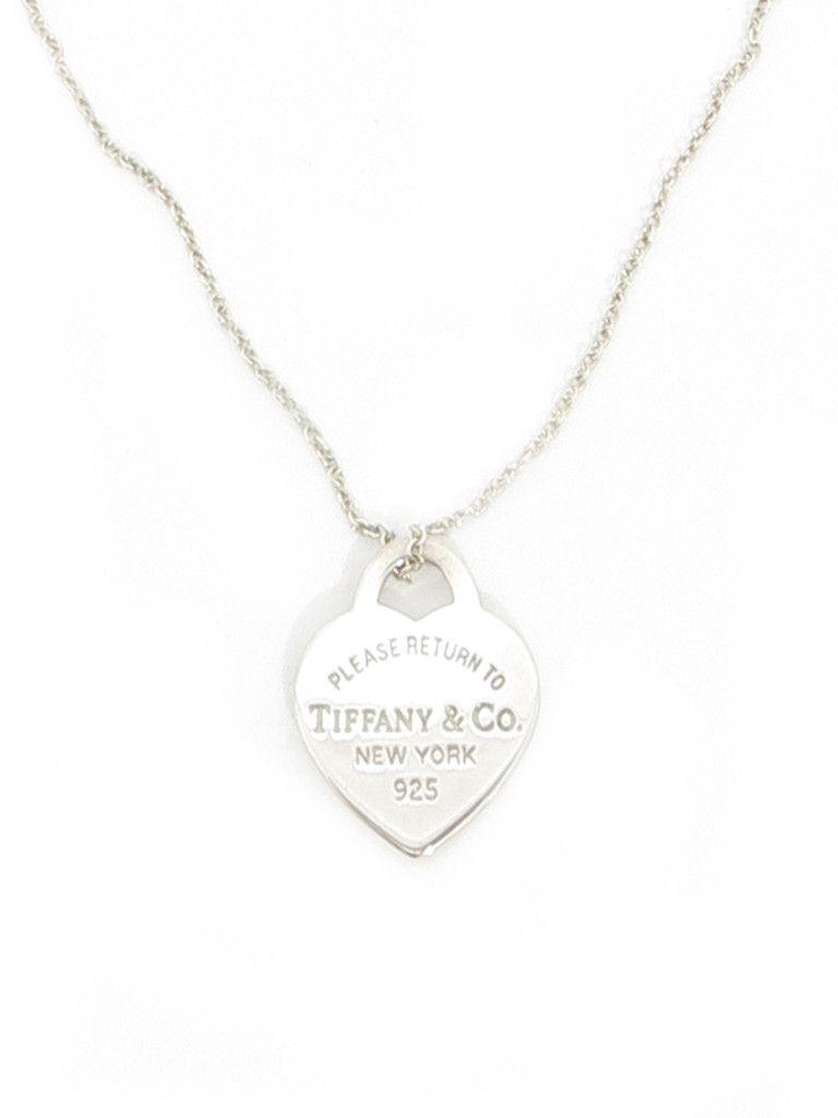 Tiffany Co Heart Tag Necklace Sabrinascloset