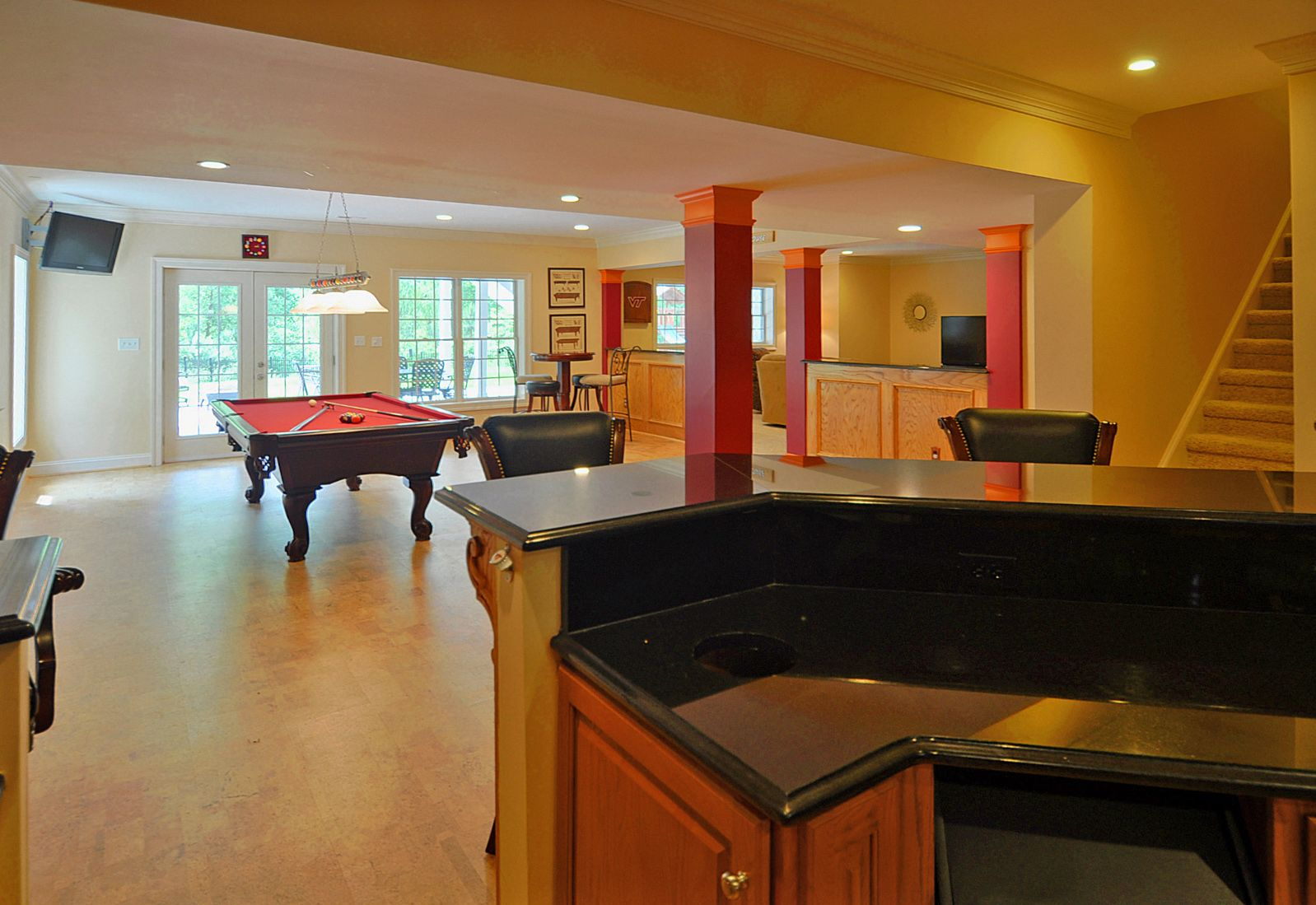 Bar With Old School Bottle Opener Pool Table TV And Cork - Old school pool table
