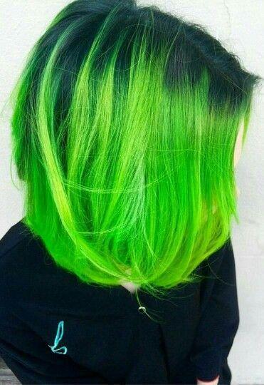 Green Hair Colors Hair Color Crazy Neon Green Hair