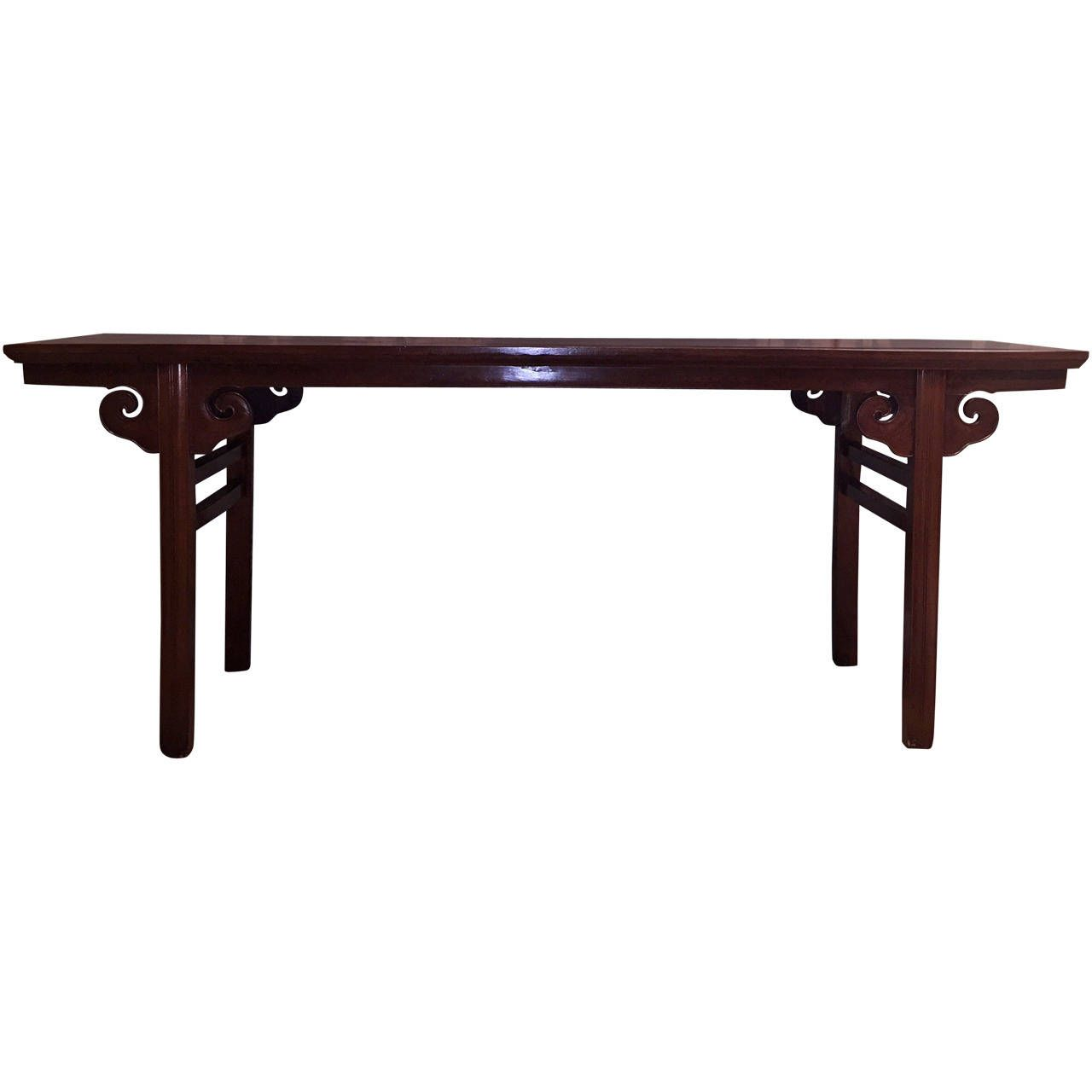 18th century chinese jumu console from a unique collection of view this item and discover similar console tables for sale at a lovely and gracefully shaped antique chinese console table wood is jumu geotapseo Gallery