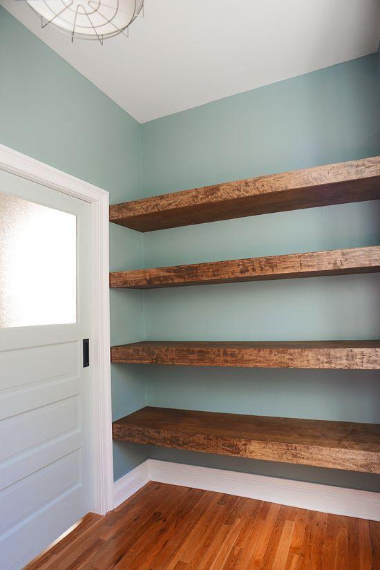 Diy Floating Wood Shelves Recycle Repurpose Pinterest