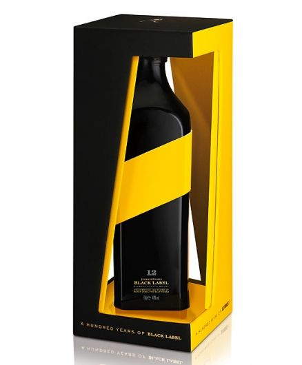 Http Lovelypackage Com Johnnie Walker Black Label Bottle Design Whisky Packaging Luxury Packaging Design