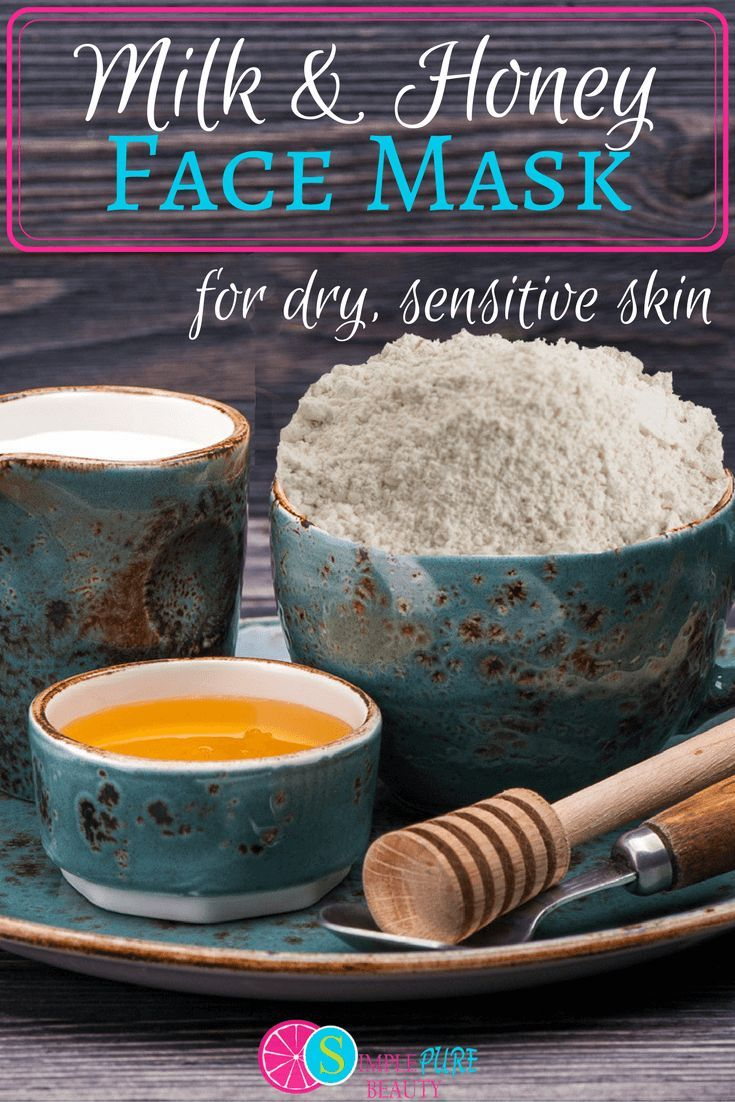Milk And Honey Homemade Face Mask For Dry Sensitive Skin Recipe Moisturizing Face Mask Skin Care Recipes Sensitive Skin Care Diy