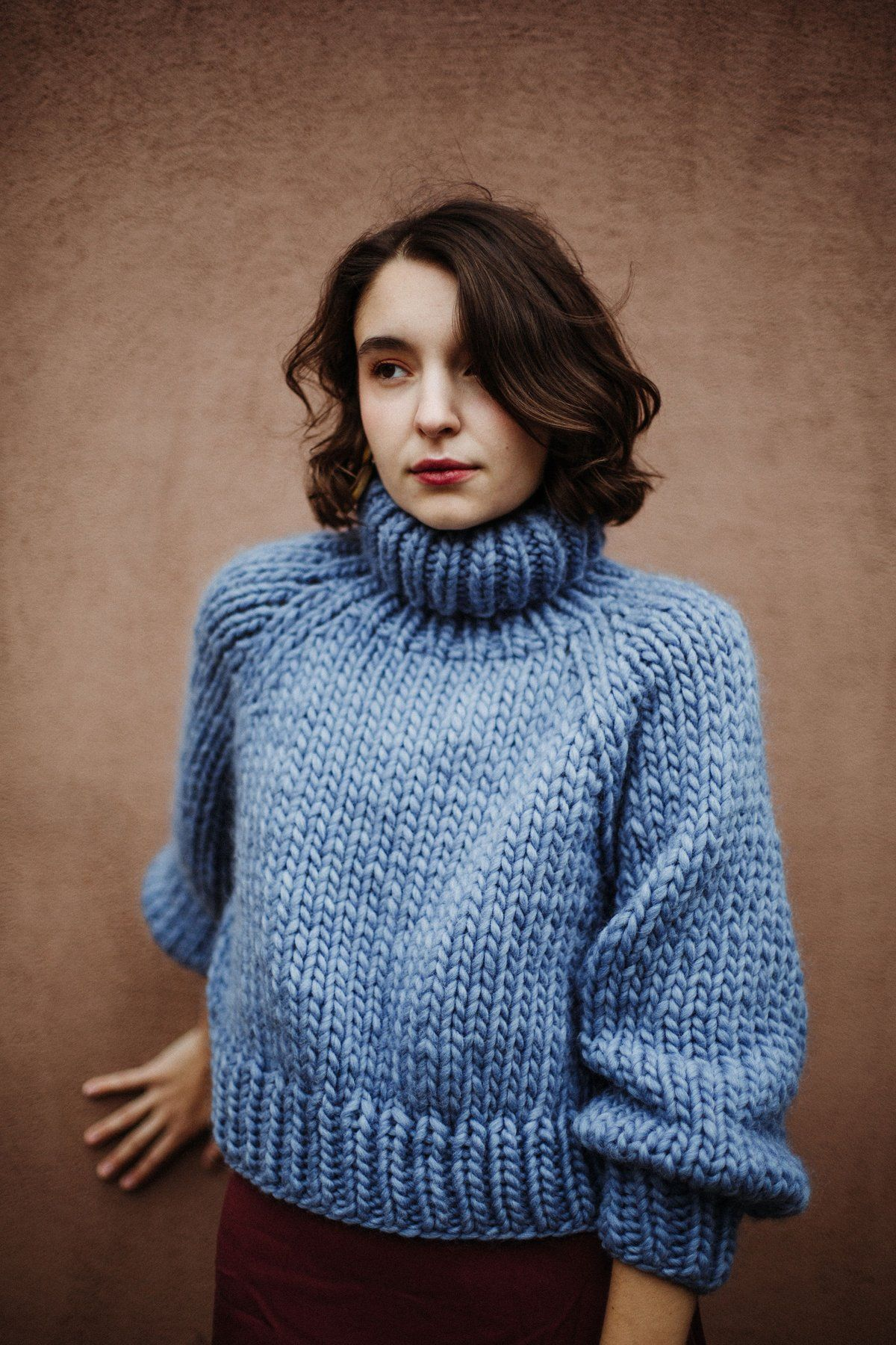 e284da67 Moosonee Sweater (shown in Stonewashed Denim) | KNITTING + CROCHET ...