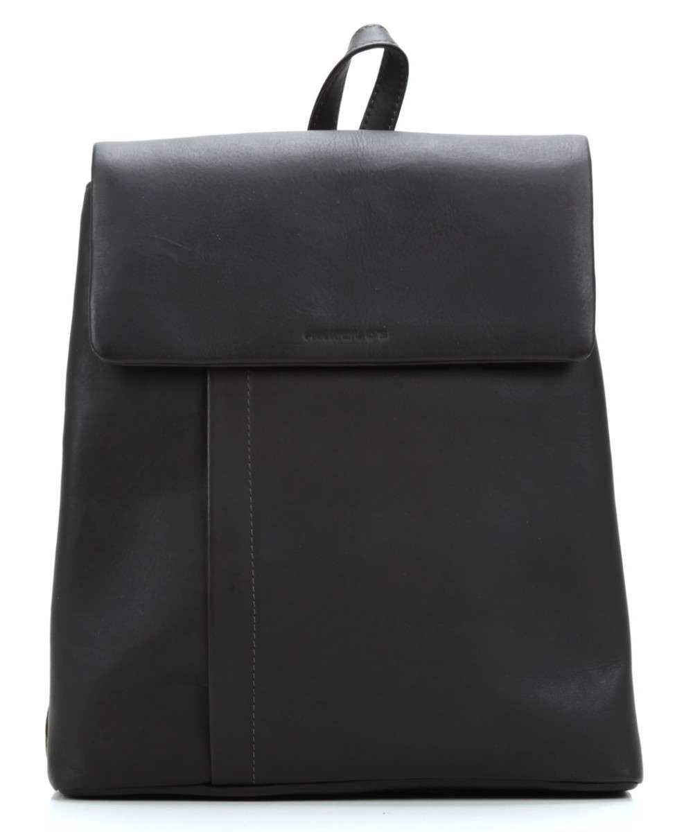 4517d1e85cc Harold's | Campo Brown Leather Backpack | £170.00 | One zip pocket on the  back. Closes with magnetic clasp. Grained Cowhide. Silver-colored metal.