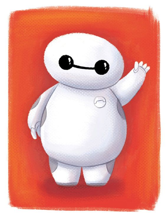 Baymax Big Hero 6 Mini Fan Art Room Decor By ArtByGladys