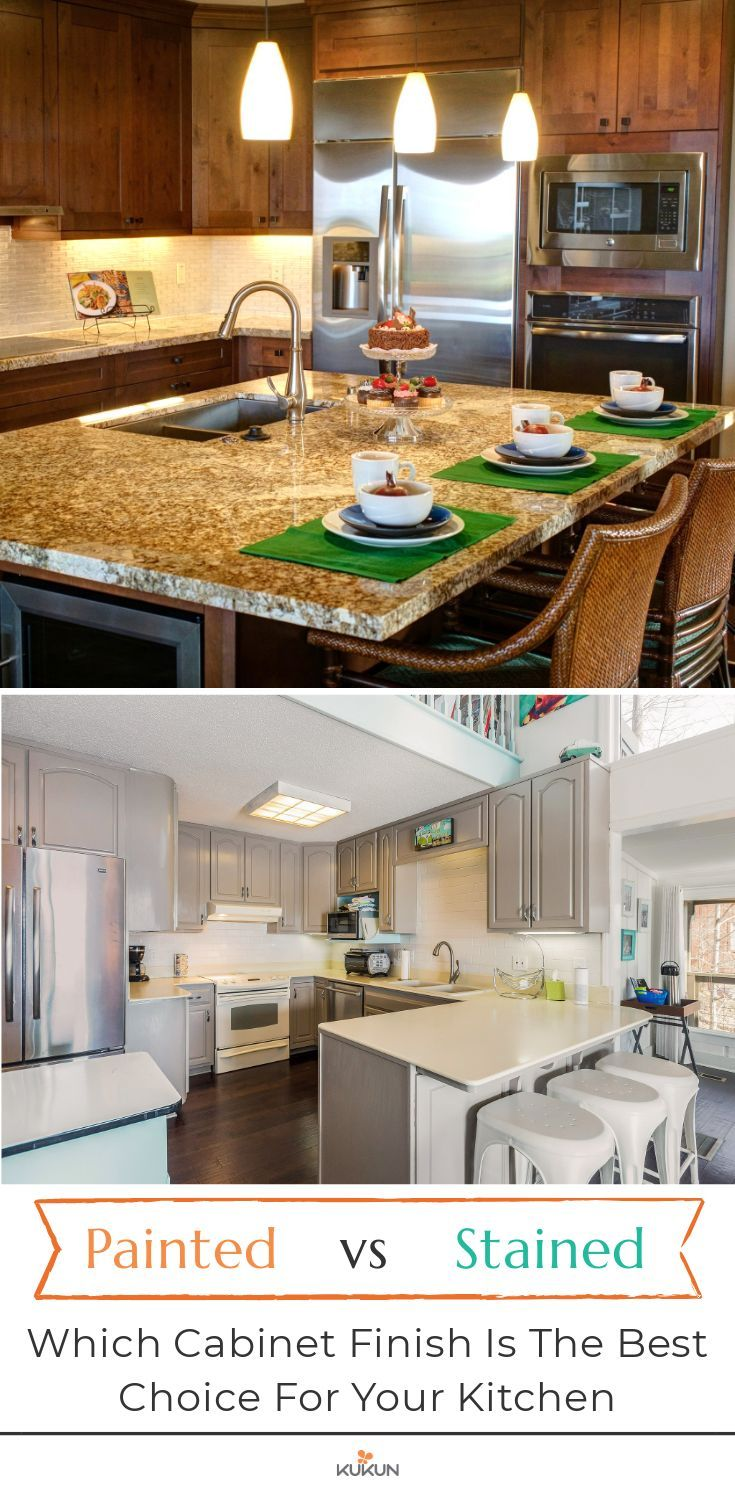 Painted Vs Stained Cabinets Best Options For Your Kitchen Stained Kitchen Cabinets Kitchen Cost Staining Cabinets