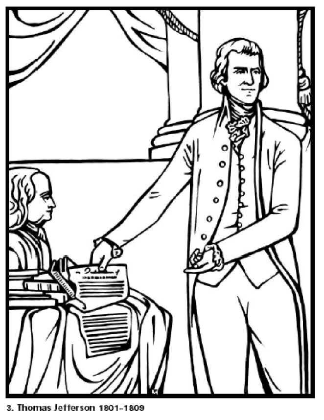 Free Coloring Pages for Kids. Thomas Jefferson our 3rd President ...