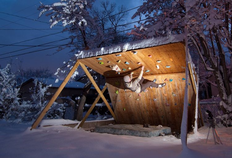 Instructions On How To Build An Outdoor Bouldering Wall Like This One