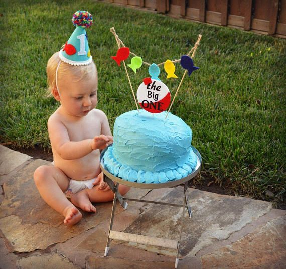 Fishing Theme 1st Birthday Hat First Party