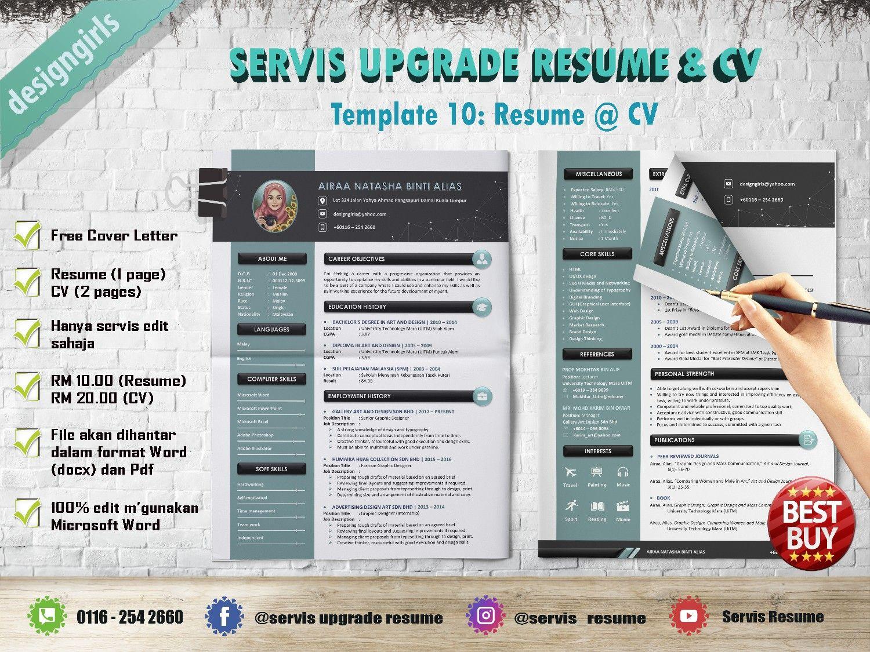 Resume: RM10, CV: RM20 | Resume, Resume cv, Cv template