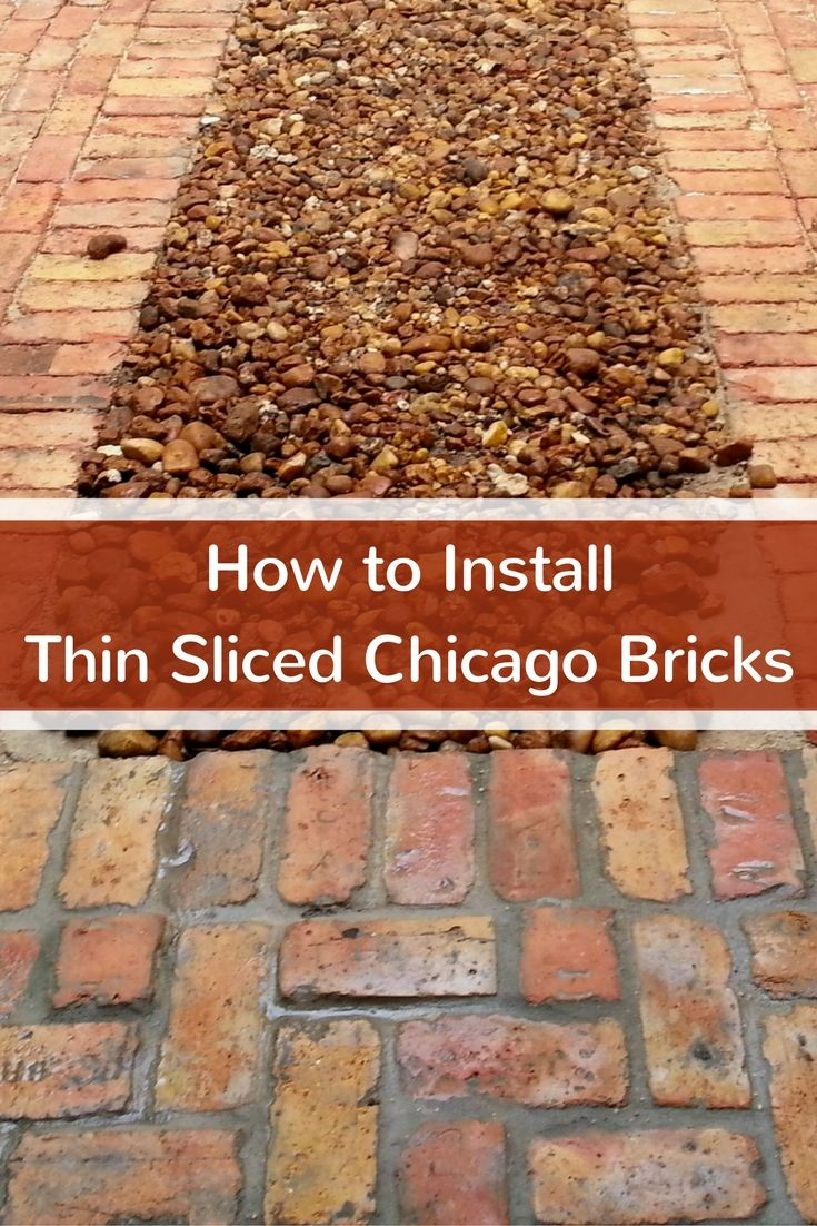 We will teach you how to install thin sliced chicago bricks