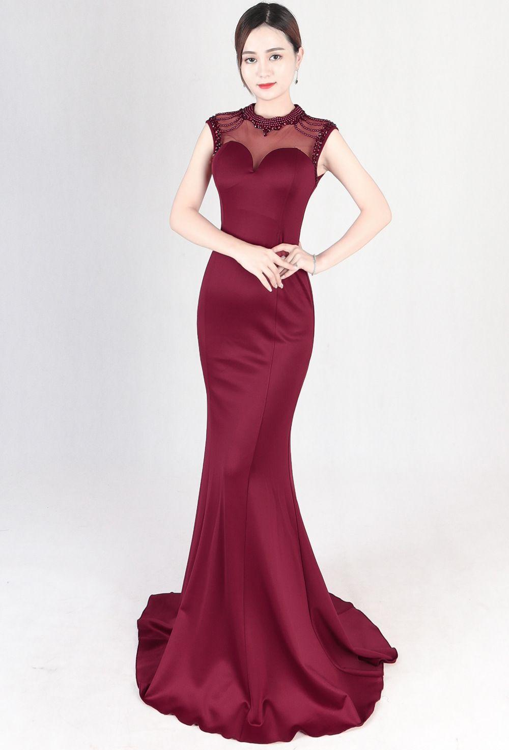annual event evening dresses fashionable mermaid banquet slim